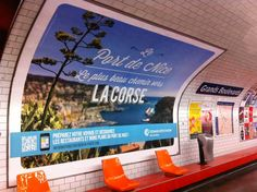La campagne Port de Nice s'affiche dans le métro parisien. Station Grands Boulevards, à 2 pas d'#OPS2