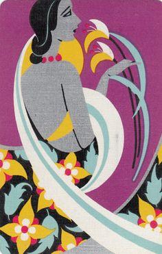 Vintage Swap Playing Cards 1 Single Stunning Deco Lady | eBay