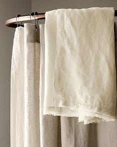 Eileen Fisher Washed Linen Shower Curtain