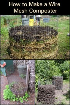 Gardening Compost If you need a large composter for you garden, then a wire mesh compost bin is one of the easiest you can build. - Make your own compost by building an easy DIY wire mesh compost bin. Learn more about this project here. Organic Gardening, Gardening Tips, Vegetable Gardening, Organic Fertilizer, Composting At Home, Composting Toilet, Garden Compost, Diy Compost Bin, Homemade Compost Bin