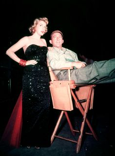 "hollywoodlady:  ""Rosemary Clooney and Bing Crosby on the set of White Christmas, 1954  """