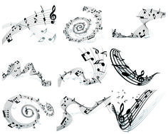 Musical Note Set2 Graphic Illustration, Vector Illustrations, Art Template, Abstract Pattern, Pattern Design, Musicals, Creative, Vectors, Graphics