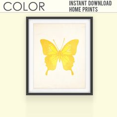 Printable Art Print Butterfly Print Wall Prints by ColorPrintables, $2.50
