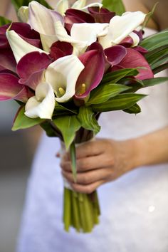 White and Red Calla Lily Bouquet  -------Mine would have to be White and Purple Calla Lily's