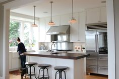 Kitchen +industrial +island +lighting Design, Pictures, Remodel, Decor and Ideas - page 10