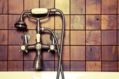 upcycled wood tile made from old cabinets and barn wood. and handmade. totally awesome. #diy