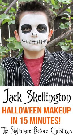 Jack Skellington Halloween Makeup in Only 15 Minutes! #TulipBodyArt:
