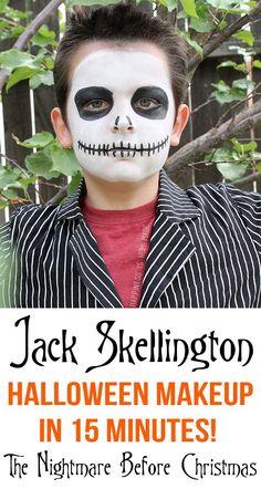 Jack Skellington Halloween Makeup in Only 15 Minutes! #TulipBodyArt: