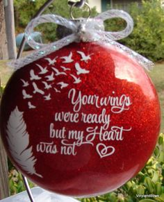 Your wings were ready ornament by VINYLandBOWS on Etsy
