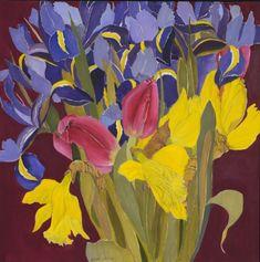 Spring Fling 36in x 36in by Helen Lucas
