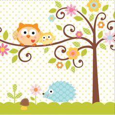 16 Happi Tree Servietten