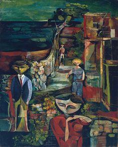 John Minton 'Children by the Sea', 1945 © The estate of John Minton John Minton, History Of Illustration, Painting Collage, Royal College Of Art, Art Uk, Art History, Modern Art, Contemporary Art, Art Gallery