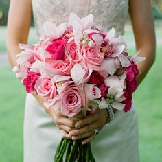 I love the size and types of flowers, just would change colors to match the other bouquet.
