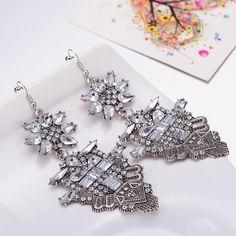 Bridal Drop Earrings Fashion Jewelry Luxury Dangle Crystal Earrings for Women FSE021