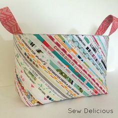 Fabric Selvedge Basket