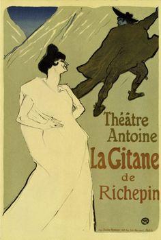 HENRI DE TOULOUSE LAUTREC - La gitane - affiche - 1899