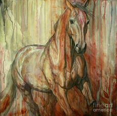 Abstract Horse Painting - Fire Within by Silvana Gabudean Dobre Abstract Horse Painting, Abstract Art, Abstract Paintings, Light Painting, Fine Art Amerika, Fine Art Prints, Canvas Prints, Canvas Art, Painting Canvas