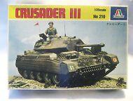 Vintage Italeri Crusader III WWII British Tank Model Kit - NEW-#219--1:35 Scale