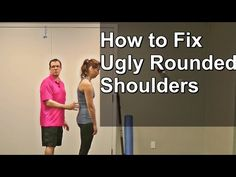 How to Fix Ugly Rounded Shoulders - YouTube