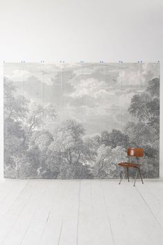 Etched Arcadia Mural would be great as a photobooth backdrop. via #Anthropologie