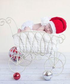 Red & White Santa Stripe Stocking Cap Beanie by Bits N Baubles BeBe #zulily #zulilyfinds