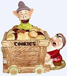 Snow White's Grumpy & Dopey Limited Edition of 250 Cookie Jar by Disney Auctions