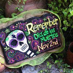 Día de los Muertos Lawn Art