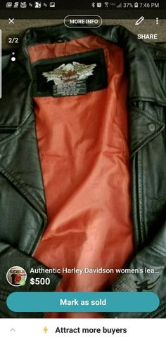 ef63ab4d25792 Harley davidson womens black leather jacket size XL  fashion  clothing   shoes  accessories