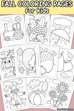 Fall Coloring Pages for Kids. 20 Fall Coloring Pages for Kids. Free Printable Fall Coloring Pages for Kids Fall Coloring Sheets, Pumpkin Coloring Pages, Fall Coloring Pages, Preschool Coloring Pages, Animal Coloring Pages, Coloring For Kids, Free Coloring, Coloring Book, Free Thanksgiving Coloring Pages