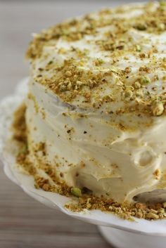 Pistachio and Apricot Cake | The Tasteful Life - Going to attempt making this for Mother's Day :)