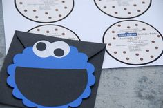 love the idea of a cookie monster shaped invite! I'll probably add a photo too.