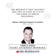 What is the problem that repeal of section 18C will remedy or at least ameliorate? Read: http://craigemersoneconomics.com/blog/2014/4/6/column-in-the-australian-repeal-protects-rights-of-bigots… pic.twitter.com/4iOaxqdII5