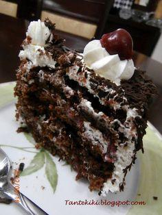Sweet Desserts, No Bake Desserts, Cookbook Recipes, Cake Recipes, Cherry Deserts, Cheesecake Cupcakes, Black Forest, Greek Recipes, Chocolate Cake