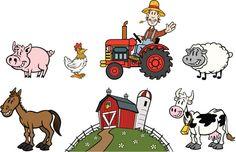 Cartoon Farm Set
