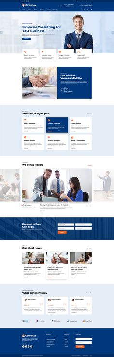 Consultax is a clean and modern design PSD for finance and agency professional Website Design Layout, Web Layout, Layout Design, Layout Site, Web Ui Design, Design Design, Modern Design, Graphic Design, Design Thinking
