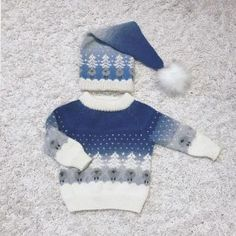 Bilderesultater for julenattgenser Christmas Knitting, Knitting Patterns, Winter Hats, Beanie, Barn, Sweaters, Knits, Diy, Fashion