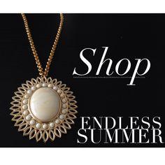 The beautiful and bold sunburst necklace in Ivory!!  www.lisastewartonline.com