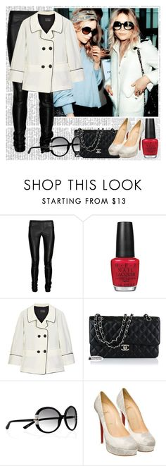 """""""Mary Kate & Ashley Olsen"""" by cassedavid ❤ liked on Polyvore featuring Olsen, Helmut Lang, OPI, Fendi, Chanel, Marc Jacobs and Christian Louboutin"""
