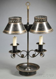 French Tole Student Lamp, early 19th century