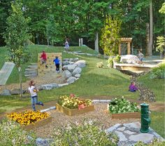 working with the natural landscape to create a great play ground!
