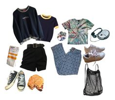 """98'"" by baileyjackslater ❤ liked on Polyvore featuring Reebok, Athleta, WithChic and Converse"