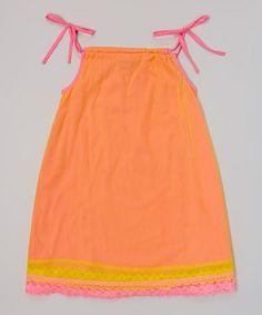 Love this Orange Gets the Slip Dress - Toddler & Girls on #zulily! #zulilyfinds