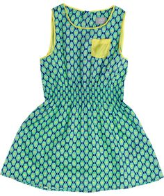 Name It wonderful mint green spencer dress with yellow. name-it.en.emilea.be