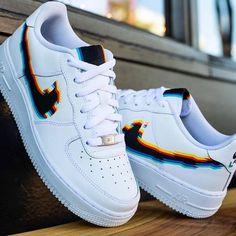 Nike Shoes OFF!> Behind The Scenes By customised_culture Custom Painted Shoes, Custom Shoes, Customised Shoes, Jordan Shoes Girls, Girls Shoes, Shoes Women, Cute Sneakers, Sneakers Nike, Basket Style