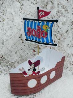 Navio pirata   Embalagem ideal para guloseimas:  (bombons, pipoca, trufas, ou mix de bombons etc)