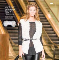Colete de pêlos - Revista Manequim