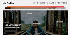 Mefolio v1.0 – Resume WordPress Theme