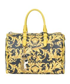 Versace Jellyfish Print Bag in Yellow | Lyst