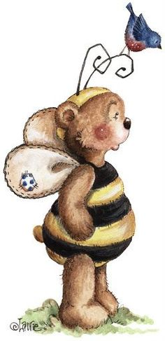 Laurie Furnell | Laurie Furnell - Bumbly bears (497x1024 px)
