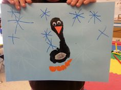 Kindergarten penguin feet - the orange toes were the best : )